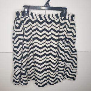 Fossil Black and White Flowy Skirt with Pockets 8